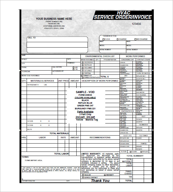 Make Hvac Invoice Template in Such Great Way  %Image Name