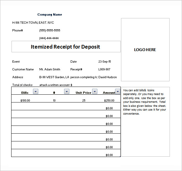 itemized invoice template to create a professional looking document. Black Bedroom Furniture Sets. Home Design Ideas