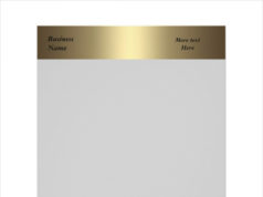 Letterhead Business Company Office Bronze Gold Template