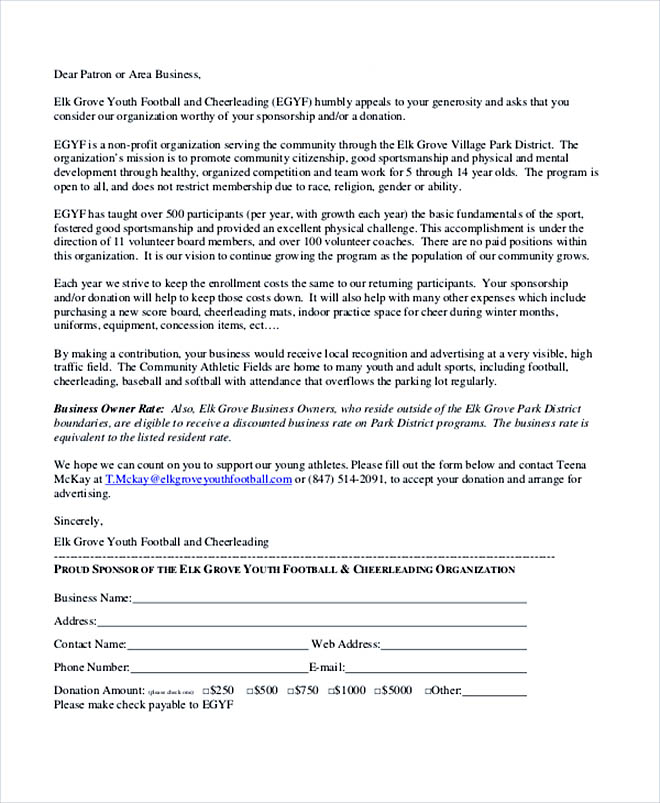 How To Write Sponsor Letter  How To Write A Sponsor Letter