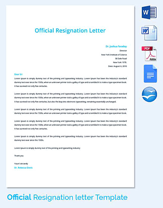 Letter Of Resignation Template Free Download  How To Write A
