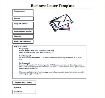 PDF Format Free Download Business Letter Template