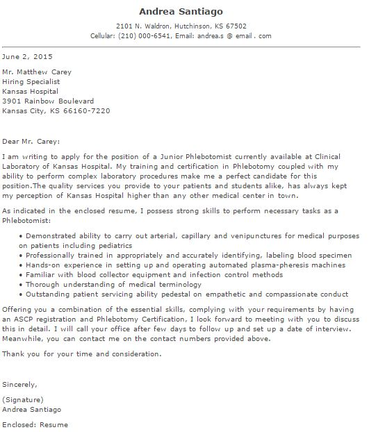 Property Management Cover Letter: Common Basic Information To
