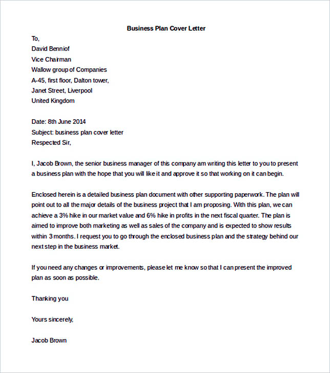 Business Letter Template Options Know Which Format To Use - Business plan cover letter template