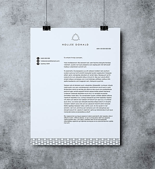 Printable Letterhead MS Word Template