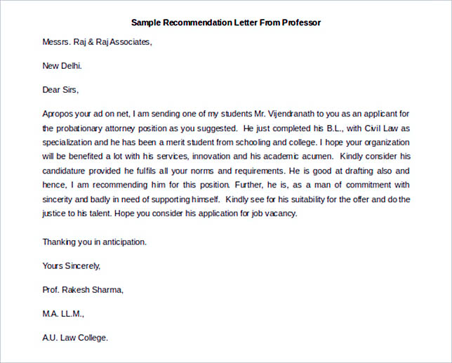 Best Recommendation Letter Template To Use  How To Write A Resume