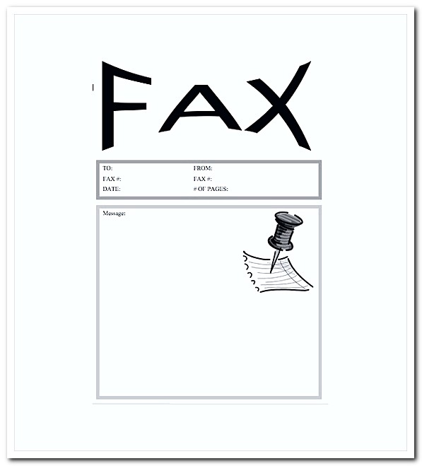 Pushpin Fax Cover Letter Word Template Free Download  Fax Cover Letter Doc