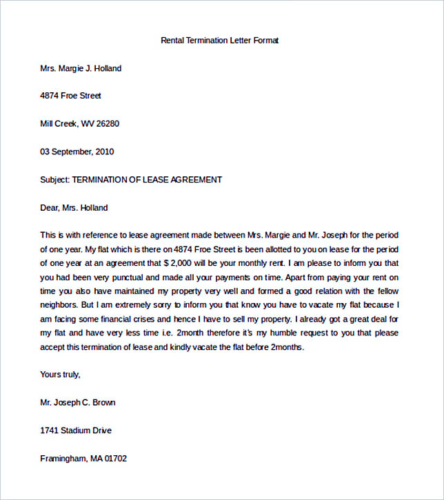 12 Termination Letter Template