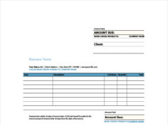 Sample Invoice Indesign Template