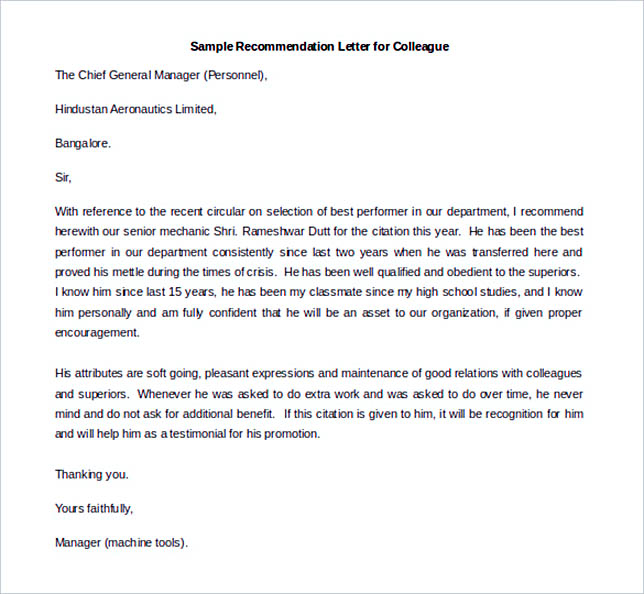 Best Recommendation Letter Template To Use | How To Write A Resume