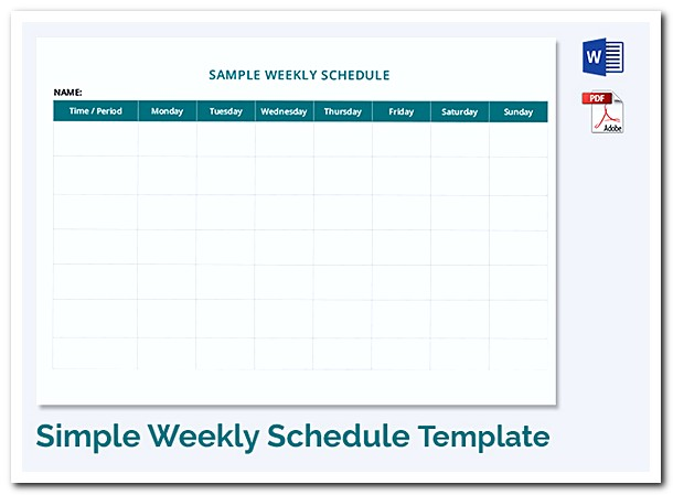 Using Weekly Schedule Template to Help You Plan Your Week