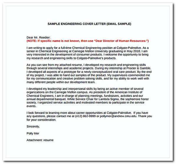 Simple Engineering Cover Letter Free PDF Template