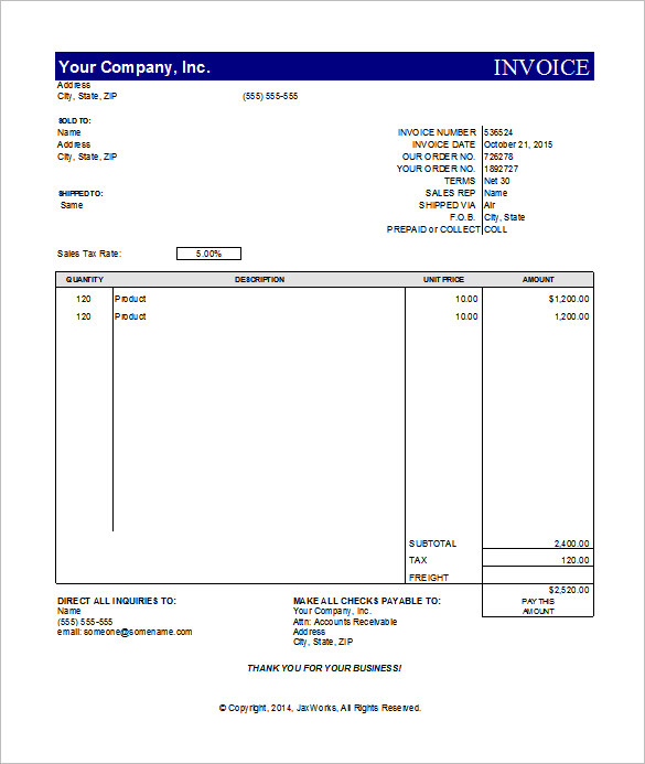 29+ free invoice template for mac programs, Invoice templates