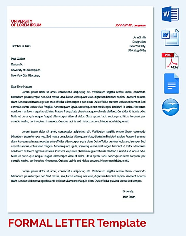 Student Requesting Formal Letter Template