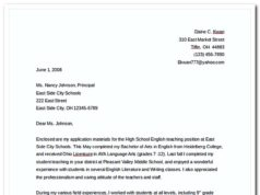 Teaching Job Cover Letter FreeWord Template Download