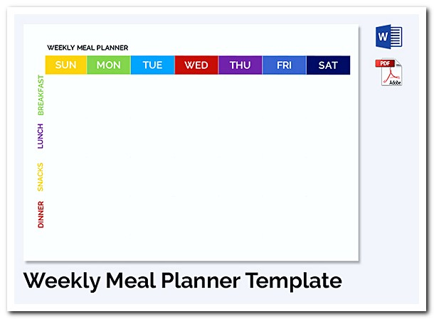 Weekly Meal Planner Schedule Template
