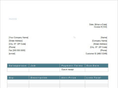Word Service Invoice Template