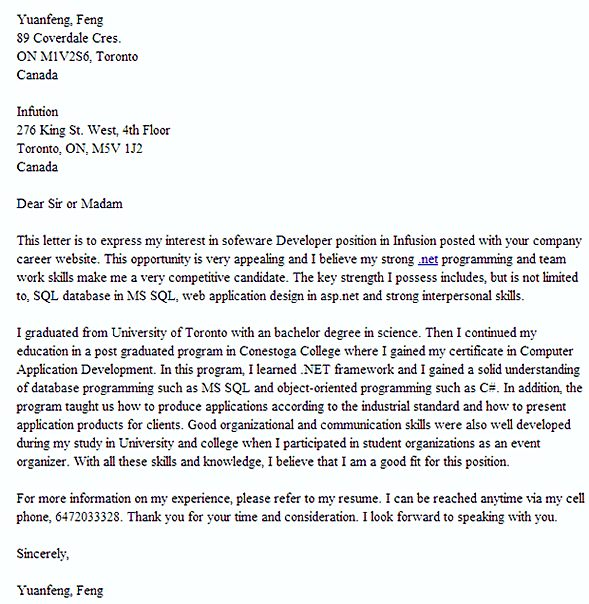 Example Of A Great Cover Letter Secrets You Should Know  How To