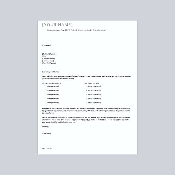 great cover letter templates