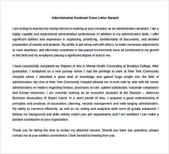 perfect Health Administrative Assistant Cover Letter Word templates Free