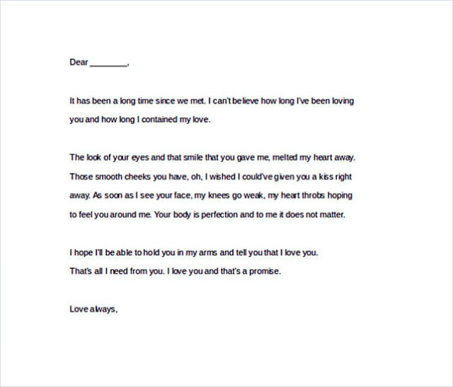 teenage love letters for him
