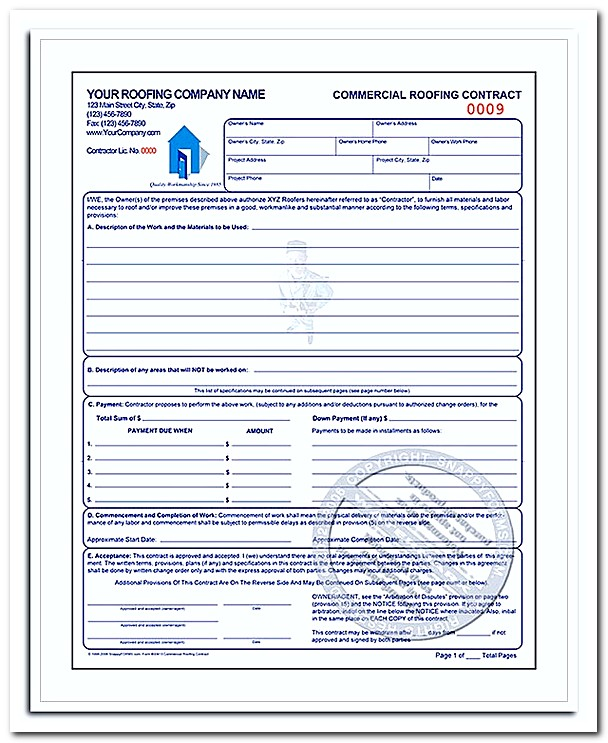 What To Be Included In Roofing Invoice Template With Example | How