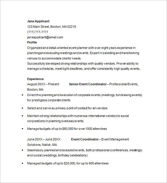 event planner cover letter how to write a resume in simple steps