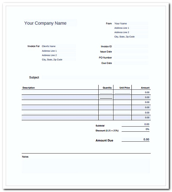 Editable Company Payroll Invoice Template PDF Download With Payroll Invoice Template