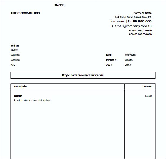 Excel Invoice Free templates
