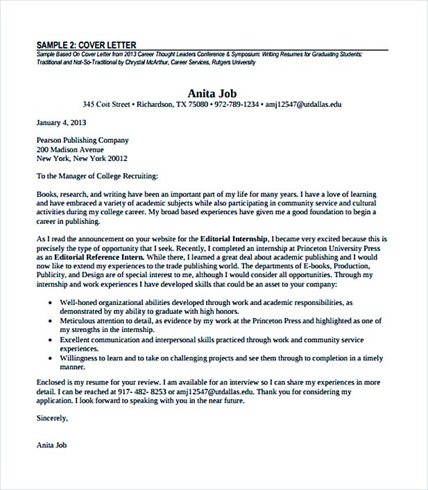 experienced professional cover letter pdf format free