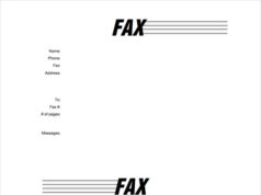 Fax Cover Letter MS Word Template Free