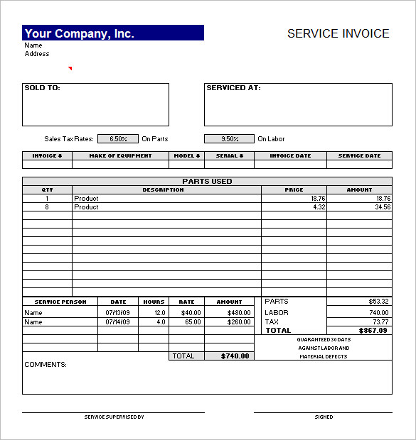 50+ Generic Invoice Template To Ease The Invoice Ideas  Service Invoices