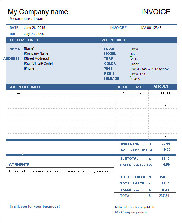 Generic Invoice Template To Ease The Invoice Ideas - Media invoice template