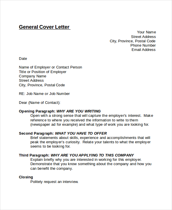 Generic Cover Letters Template And How To Write Yours  How To