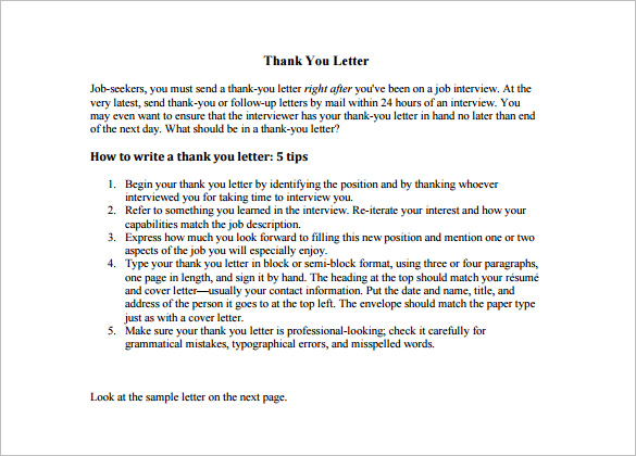 ... Thank You Letter To Teacher . How ...  How To Write A Thank You Letter