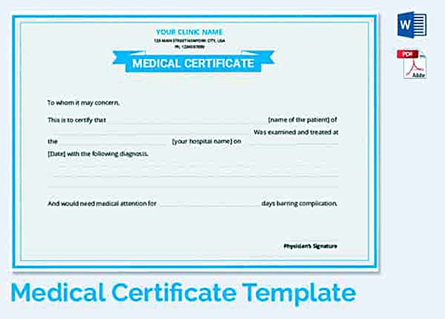 Medical leave application for the further action medical awareness certificate template long medical leave letter yadclub Images