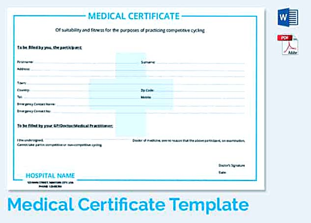 Medical Awareness Certificate Template