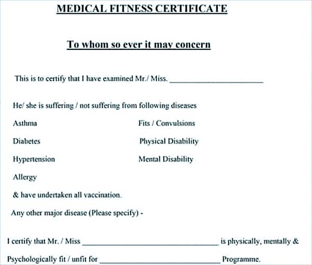 Medical leave application for the further action medical fitness certificate free yadclub Gallery