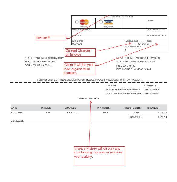 Microsoft Client Invoice Template