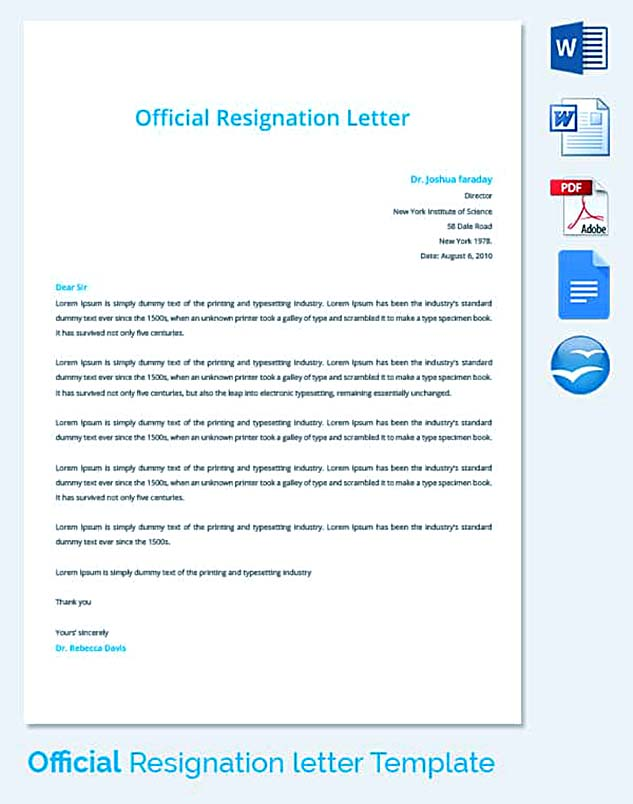 Best Professional Resignation Letter Format – Tips: Things to Avoid  %Image Name