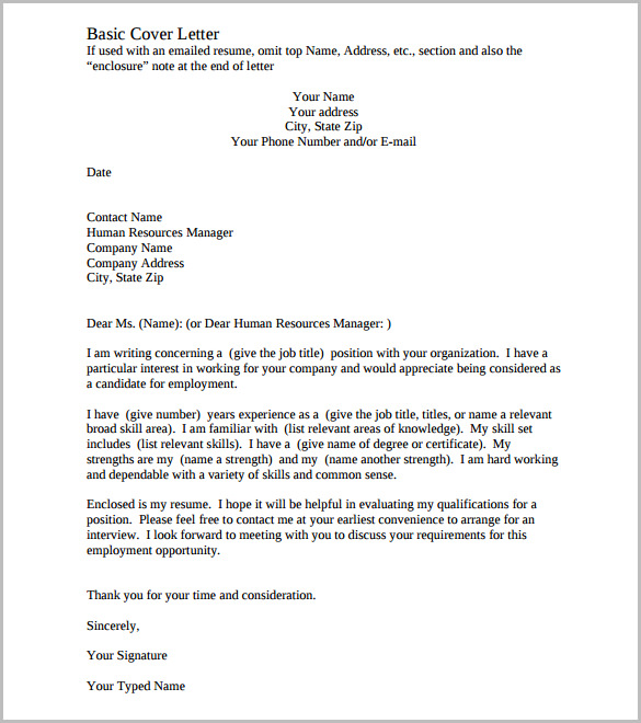 Cover Letter For Company - Twenty.Hueandi.Co