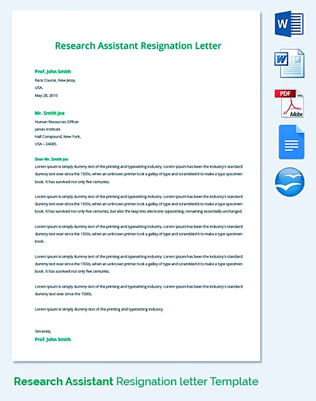 Best Professional Resignation Letter Format  Tips Things To Avoid