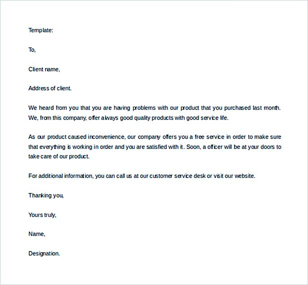 Sample Editable Website Sales Letter Template Free