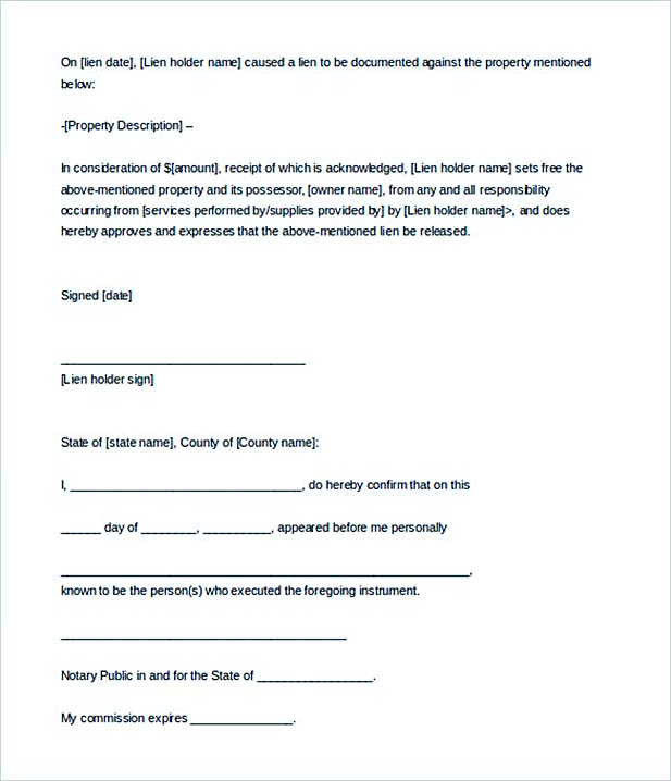 Notarized Letter In Brief - Notary letter template