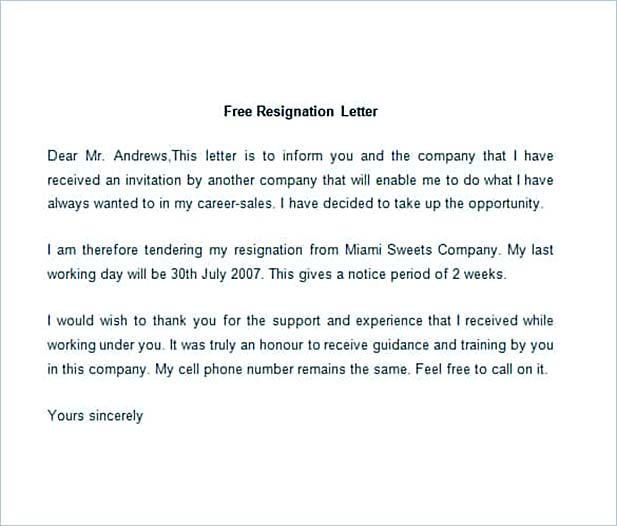 Best Professional Resignation Letter Format – Tips: Things to Avoid