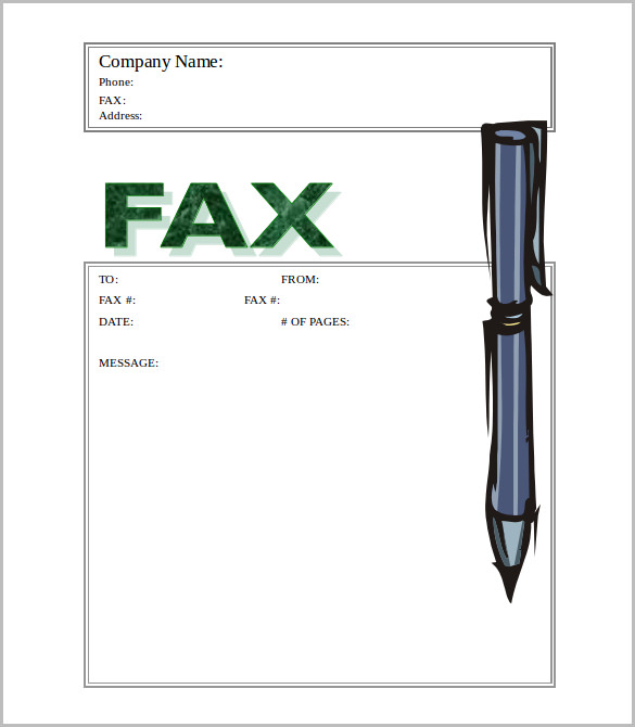 Stylish Stylus Fax Cover Template Free