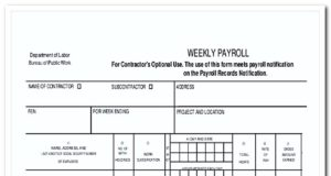 Weekly Payroll Template