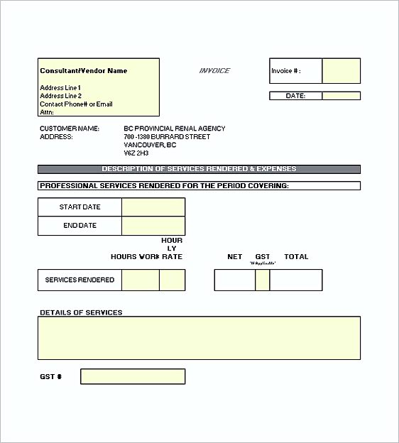 construction invoice templates excel