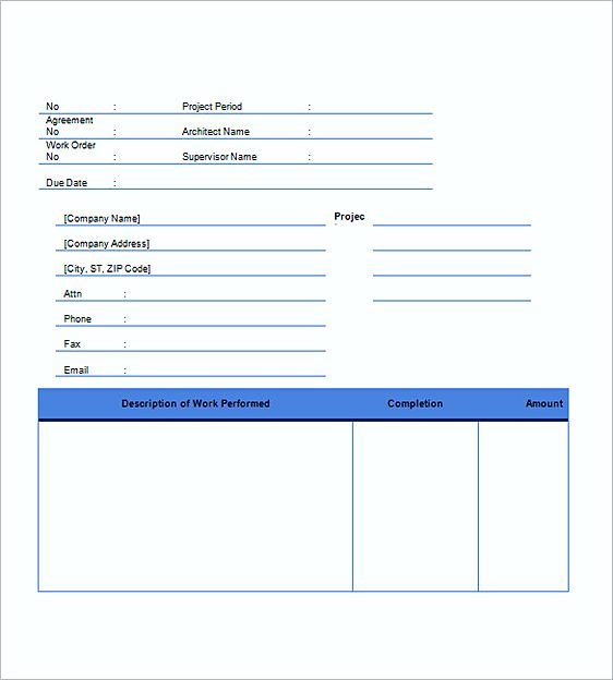 construction invoice templates word
