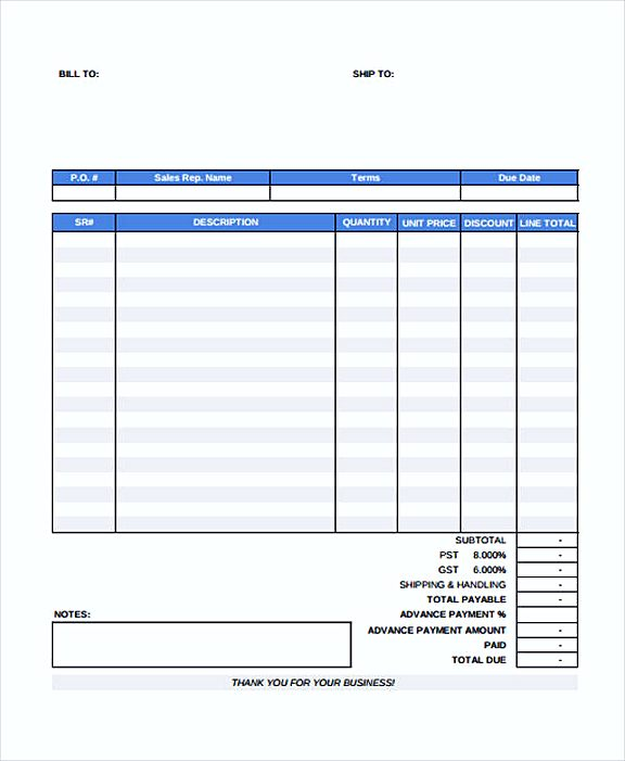 paid invoice template